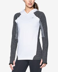 Under Armour Coldgear Infrared Hoodie White Carbon Heather