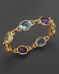 Bloomingdale's Cabochon Amethyst Blue Topaz Citrine And Green Quartz Bracelet In 14K Yellow Gold Gold Multi