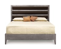 Copeland Furniture Surround Bed For Mattress Only Cal King Gray