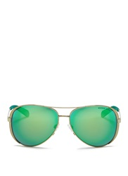 Michael Michael Kors 'Chelsea' Coated Metal Mirror Aviator Sunglasses