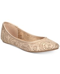 American Rag Sophia Flats Created For Macy's Women's Shoes Platino
