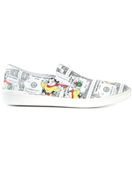 Moschino Mouse And Dollar Print Sneakers