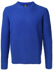 Kent And Curwen Ribbed Knit Jumper Blue