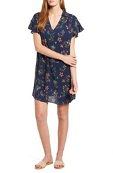 Bobeau Print Shirtdress Navy Floral