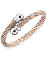 Charriol Unisex Two Tone Cable Bangle Bracelet Two Tone