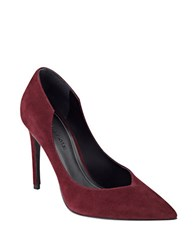 Kendall Kylie Abi Pointed Toe Suede Pumps Burgundy