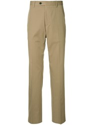 Gieves And Hawkes Straight Leg Trousers Brown