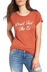 Project Social T Women's Don't Text The Ex Graphic Tee Cajun Red