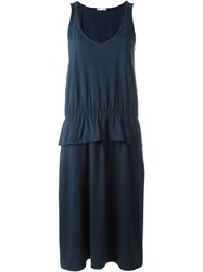 Societe Anonyme Peplum Detail Tank Dress Blue