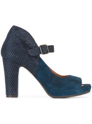 Chie Mihara Peep Toe Pump Shoes Blue