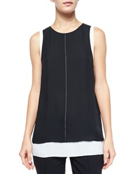 Vince Round Neck Double Layer Tank Top