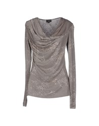 Richmond Denim Topwear T Shirts Women Grey