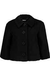 Raoul Cropped Wool Blend Boucle Jacket Black