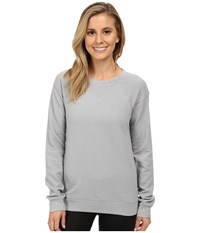 Lucy Quilted Inner Strength Long Sleeve Sleet Grey Heather 1 Women's Long Sleeve Pullover Gray