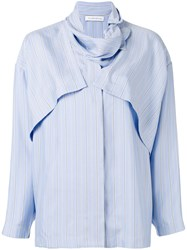 J.W.Anderson Pinstripe Layered Shirt Blue