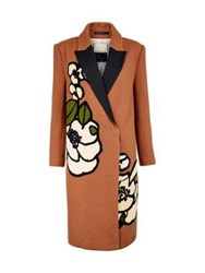 By Malene Birger Arianne Floral Detail Coat Tan