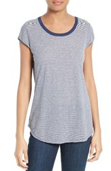 Soft Joie Women's Jeslyn Stripe Linen And Modal Knit Tee