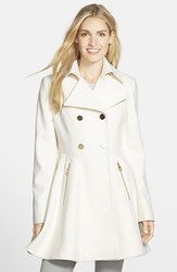 Women's Laundry By Shelli Segal Double Breasted Fit And Flare Coat