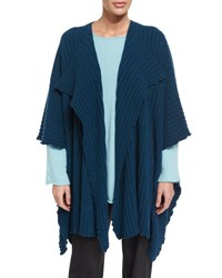 Eskandar Cashmere Sweater Cape Jacket Fairisle
