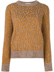Christian Wijnants Leopard Pattern Jumper Nude And Neutrals
