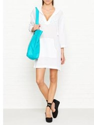Seafolly Hooded Crinkle Twill Cover Up White