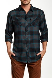 Burnside Plaid Long Sleeve Flannel Shirt Gray
