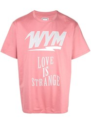 Wooyoungmi Love Is Strange T Shirt Pink