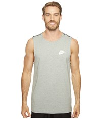 Nike Sportswear Advance 15 Tank Dark Grey Heather Matte Silver White Men's Sleeveless Gray