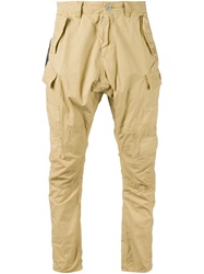 Prps Tapered Cargo Trousers Nude And Neutrals