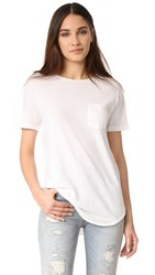 R 13 R13 Pocket Tee White