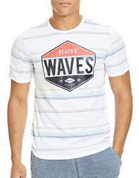 Bench Graphic Printed Striped Tee Bright White