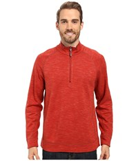 Tommy Bahama Reversible Slubtropics Zip Paprika Heather Men's Clothing Red