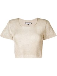 Fisico Knitted Short Sleeve Top Gold
