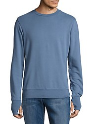 Orlebar Brown Long Sleeve Cotton Sweater Blue