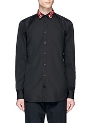 Alexander Mcqueen Paisley Skull Embroidered Shirt Black