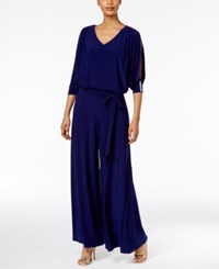 Msk Embellished Cold Shoulder Jumpsuit Midnight