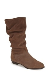 Women's Dune London 'Relissa' Scrunch Boot Taupe Suede