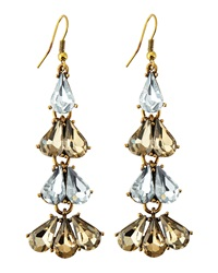 Greenbeads By Emily And Ashley Crystal Cluster Drop Earrings Bronze Clear