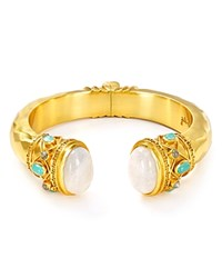 Julie Vos Greek Key Cuff Moonstone