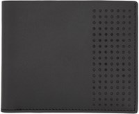 Lanvin Black Leather Perforated Wallet