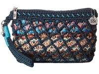 The Sak Casual Classics Large Wristlet Vintage Blue Tribal Wristlet Handbags