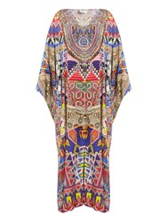 Camilla Dream Weavers Print Silk Maxi Dress Red Multi
