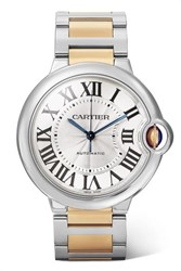 Cartier Ballon Bleu De 36.6Mm 18 Karat Gold And Stainless Steel Watch One Size