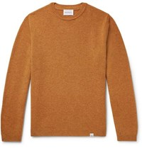 Norse Projects Sigfred Brushed Wool Sweater Camel
