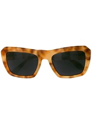 Carolina Herrera Oversized Frame Sunglasses Yellow And Orange
