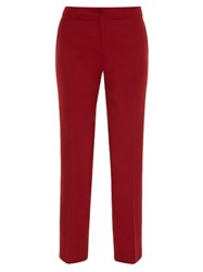 Etro Slim Leg Cropped Trousers Red