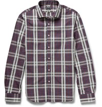 Todd Snyder Kevin Check Cotton Shirt Burgundy