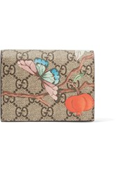 Gucci Printed Coated Canvas Wallet Beige