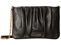 Marc Jacobs Gathered Pouch With Chain Black
