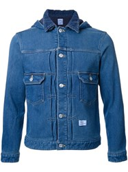 Bedwin And The Heartbreakers Hooded Denim Jacket Blue